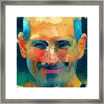 Steve Jobs The Legend Framed Print