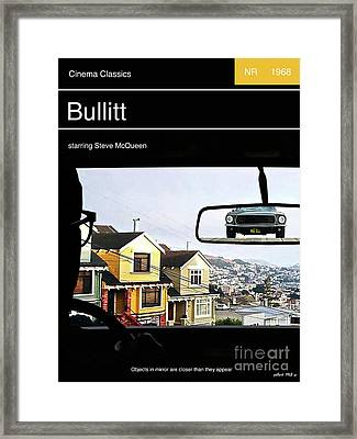 Steve Mcqueen,  Bullitt Movie Poster Framed Print by Thomas Pollart
