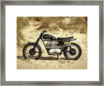 Steve Mcqueen Desert Racer Framed Print