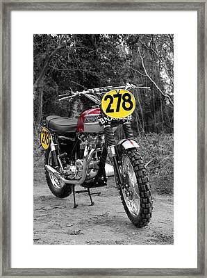 Steve Mcqueen Isdt Triumph Framed Print