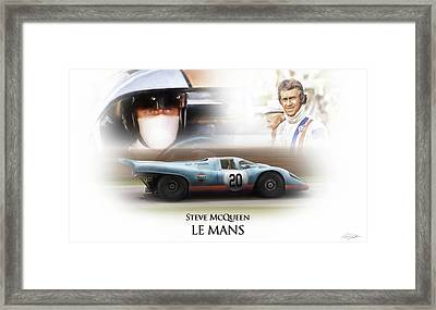 Steve Mcqueen Le Mans Framed Print by Peter Chilelli