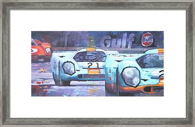 Steve Mcqueen Le Mans Porsche 917 01 Framed Print by Yuriy Shevchuk