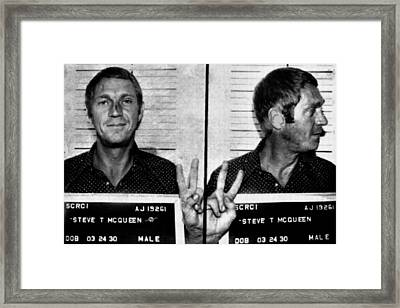Steve Mcqueen Mug Shot Horizontal Framed Print by Tony Rubino