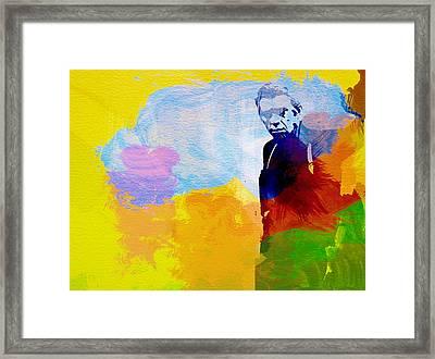 Steve Mcqueen Framed Print by Naxart Studio