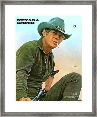 Steve Mcqueen, Nevada Smith Framed Print