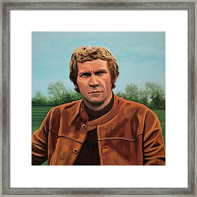 Steve Mcqueen Painting Framed Print by Paul Meijering