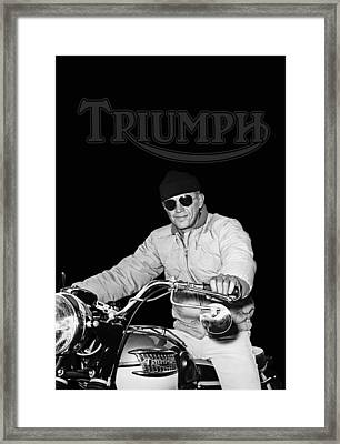 Steve Mcqueen Triumph Framed Print