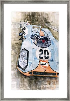 Steve Mcqueens Porsche 917k Le Mans Framed Print
