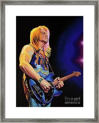 Steve Morse Painting Framed Print by Paul Meijering
