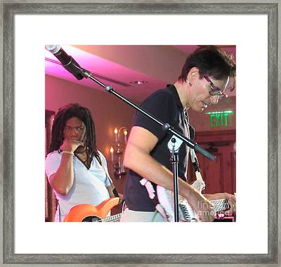 Steve Vai And Philip Bynoe Framed Print by Tammie Sisneros