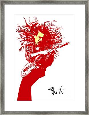 Steve Vai No.01 Framed Print by Caio Caldas