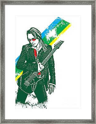 Steve Vai No.02 Framed Print by Caio Caldas