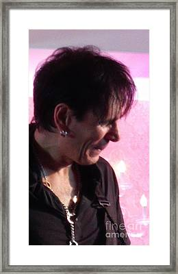 Steve Vai Side View Framed Print by Tammie Sisneros
