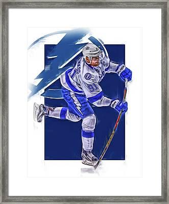 Steven Stamkos Tampa Bay Lightning Oil Art Series 3 Framed Print
