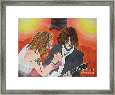 Framed Print featuring the painting Steven Tyler And Joe Perry Painting by Jeepee Aero