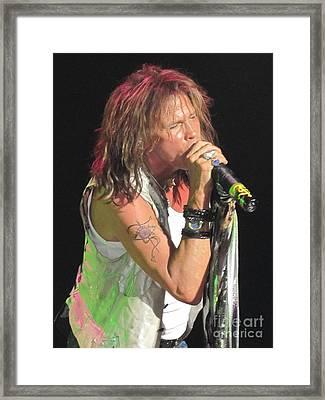 Steven Tyler Concert Picture Framed Print