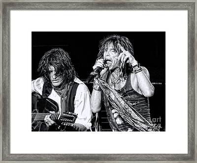 Steven Tyler Croons Framed Print by Traci Cottingham