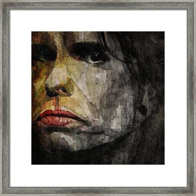 Steven Tyler  Framed Print by Paul Lovering