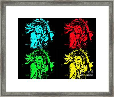 Steven Tyler Pop Art Framed Print