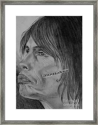 Framed Print featuring the drawing Steven Tyler Portrait Drawing Image Picture by Jeepee Aero