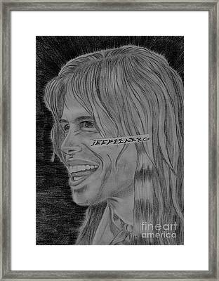 Framed Print featuring the drawing Steven Tyler Portrait Image Pictures by Jeepee Aero
