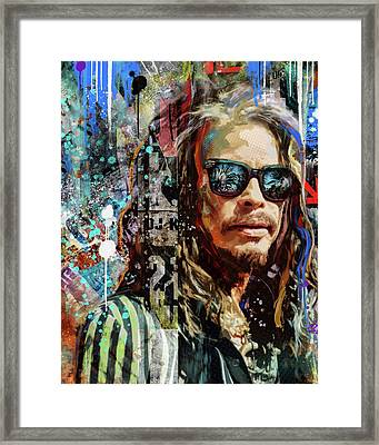 Steven Tyler Tribute Framed Print