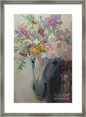Steven's Bouquet Framed Print by Kimberly Santini