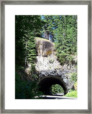 Stevens Canyon Road Tunnel Framed Print by Charles Robinson