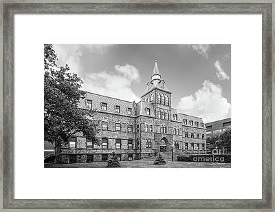 Stevens Institute Of Technology Stevens Hall Framed Print by University Icons