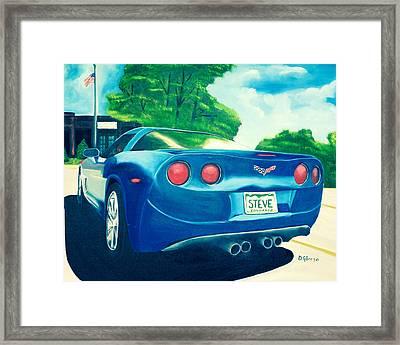 Steve's Corvette Framed Print