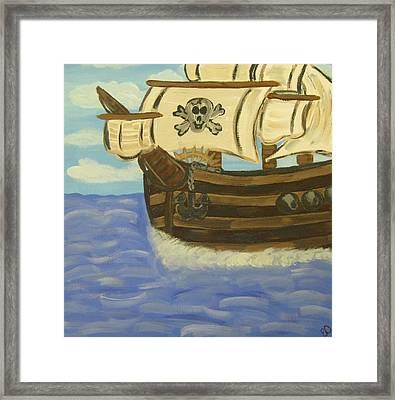 Steve's Spooky Ship Framed Print by Eva  Dunham