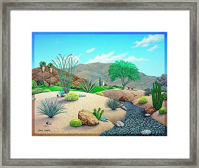Steves Yard Framed Print