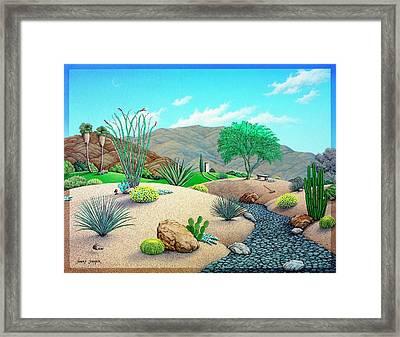 Steves Yard Framed Print by Snake Jagger