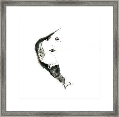 Stevie Nicks Framed Print by Addie Coppola