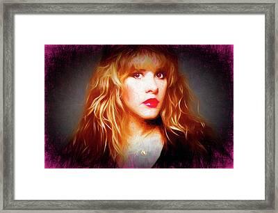 Stevie Nicks Drawing Framed Print