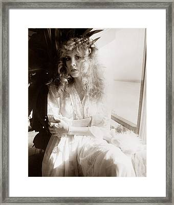 Stevie Nicks 1981 No.1 Framed Print by Chris Walter