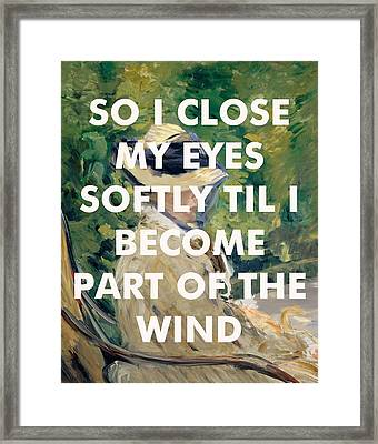 Stevie Nicks Lyrics Print Framed Print