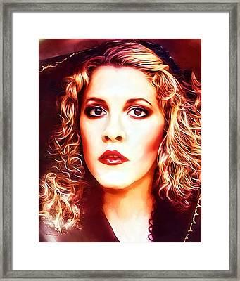 Stevie Nicks Portrait Framed Print by Scott Wallace