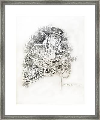 Stevie Ray Vaughan - Texas Twister Framed Print by David Lloyd Glover