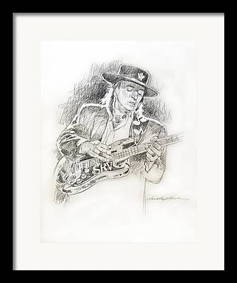 Stratocaster Drawings Framed Prints