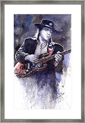 Stevie Ray Vaughan 1 Framed Print by Yuriy  Shevchuk