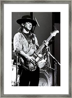 Stevie Ray Vaughan 1984 No2 Framed Print by Chris Walter