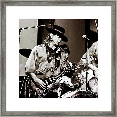 Stevie Ray Vaughan 3 1984 Framed Print by Chris Walter