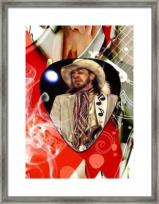 Stevie Ray Vaughan Art Framed Print by Marvin Blaine