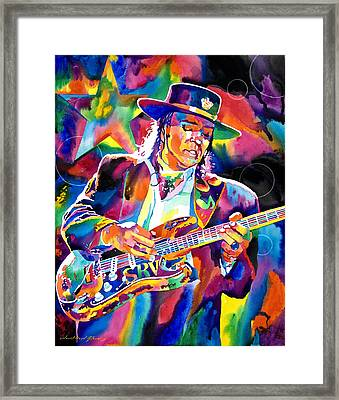 Stevie Ray Vaughan Framed Print by David Lloyd Glover