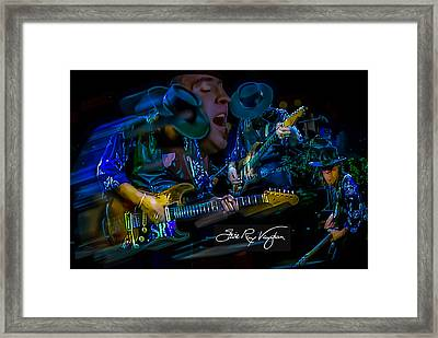 Stevie Ray Vaughan - Double Trouble Framed Print