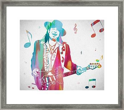 Stevie Ray Vaughan Music Man Framed Print