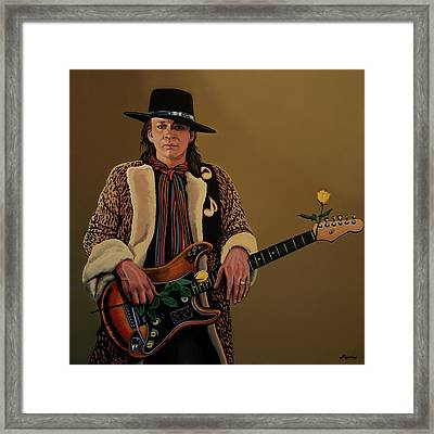 Stevie Ray Vaughan 2 Framed Print by Paul Meijering