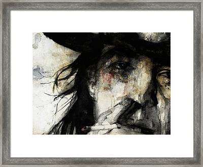 Stevie Ray Vaughan Retro Framed Print by Paul Lovering