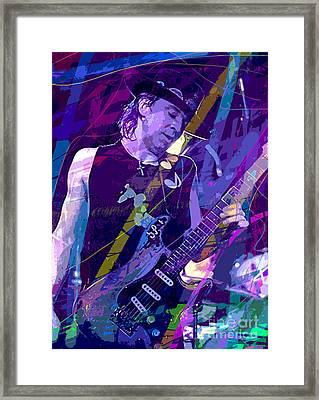 Stevie Ray Vaughan Sustain Framed Print